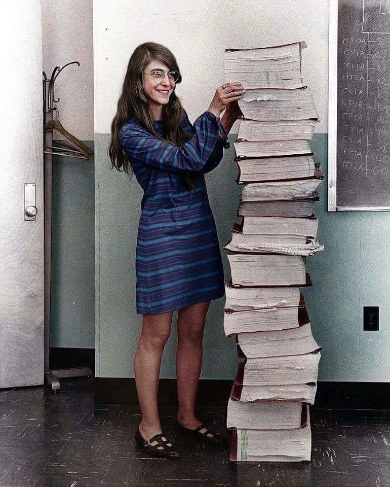Her code got humans on the moon —and invented software itself. #WomenInScience / vía @ValaAfshar