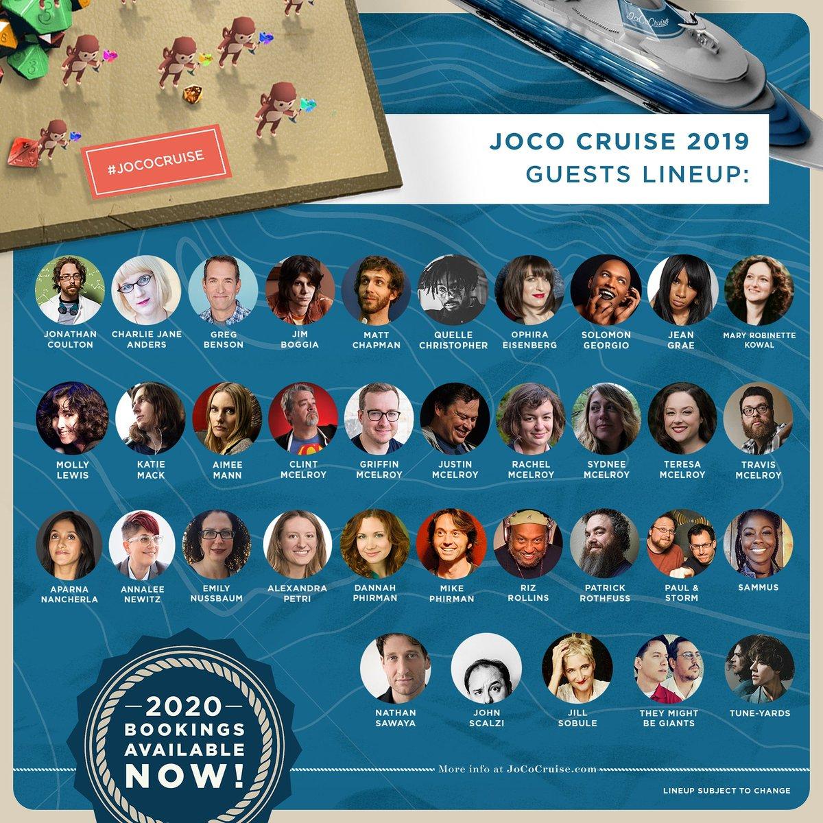 Joco Cruise 2020.Jococruise On Twitter Last Call For Joco Cruise 2019