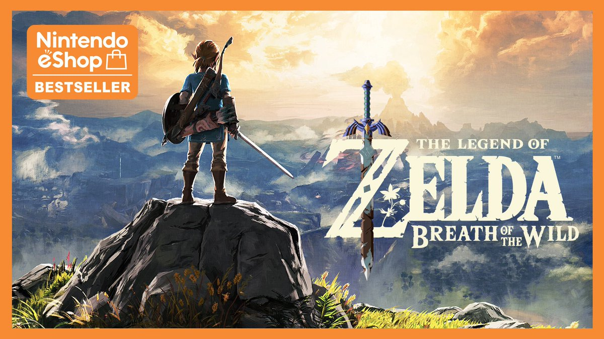 The Legend of #Zelda: Breath of the Wild continues to inspire joy and wonder and is one of eShop's bestselling games. Don't sleep on this epic adventure! https://bit.ly/2RQwTCp