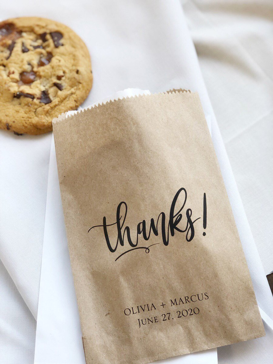Wedding Favor Bags Thank You Cookie Bridal Shower