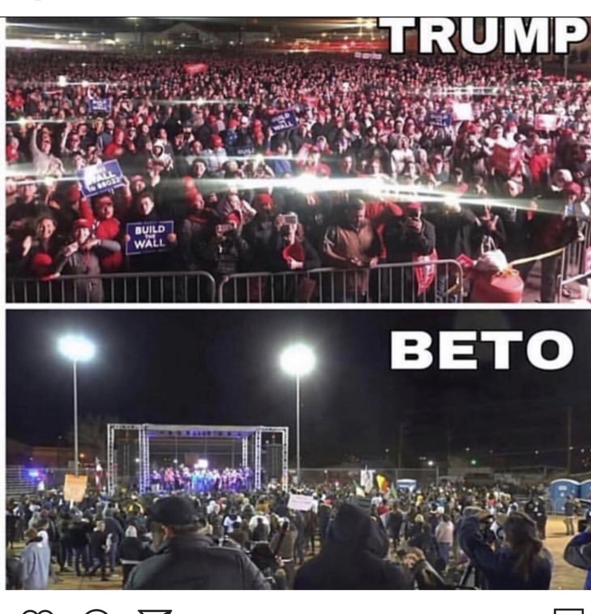 When the media lies about the turn out ! #potus #liars #media