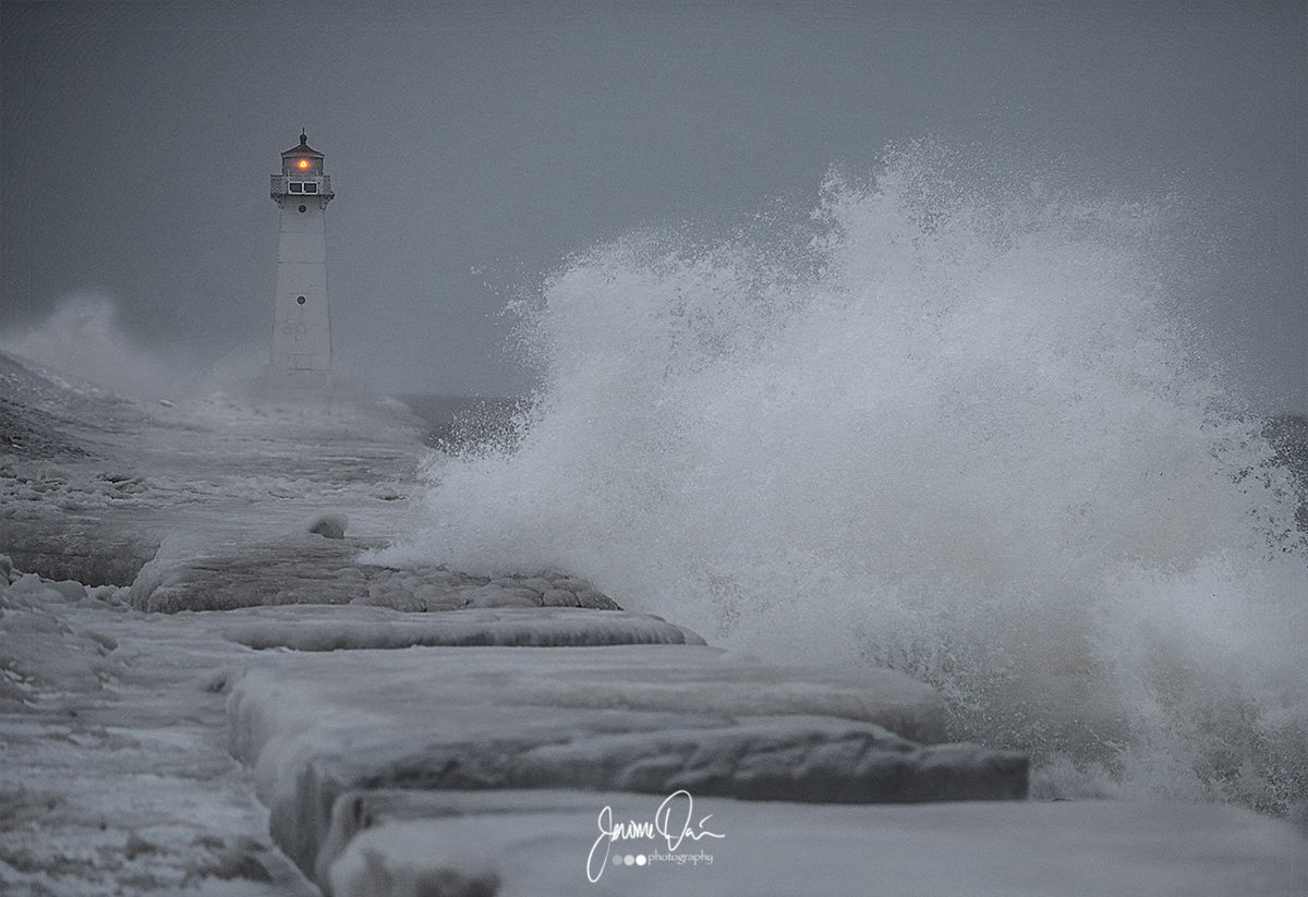 Stormy morning at Sodus Point (photo)