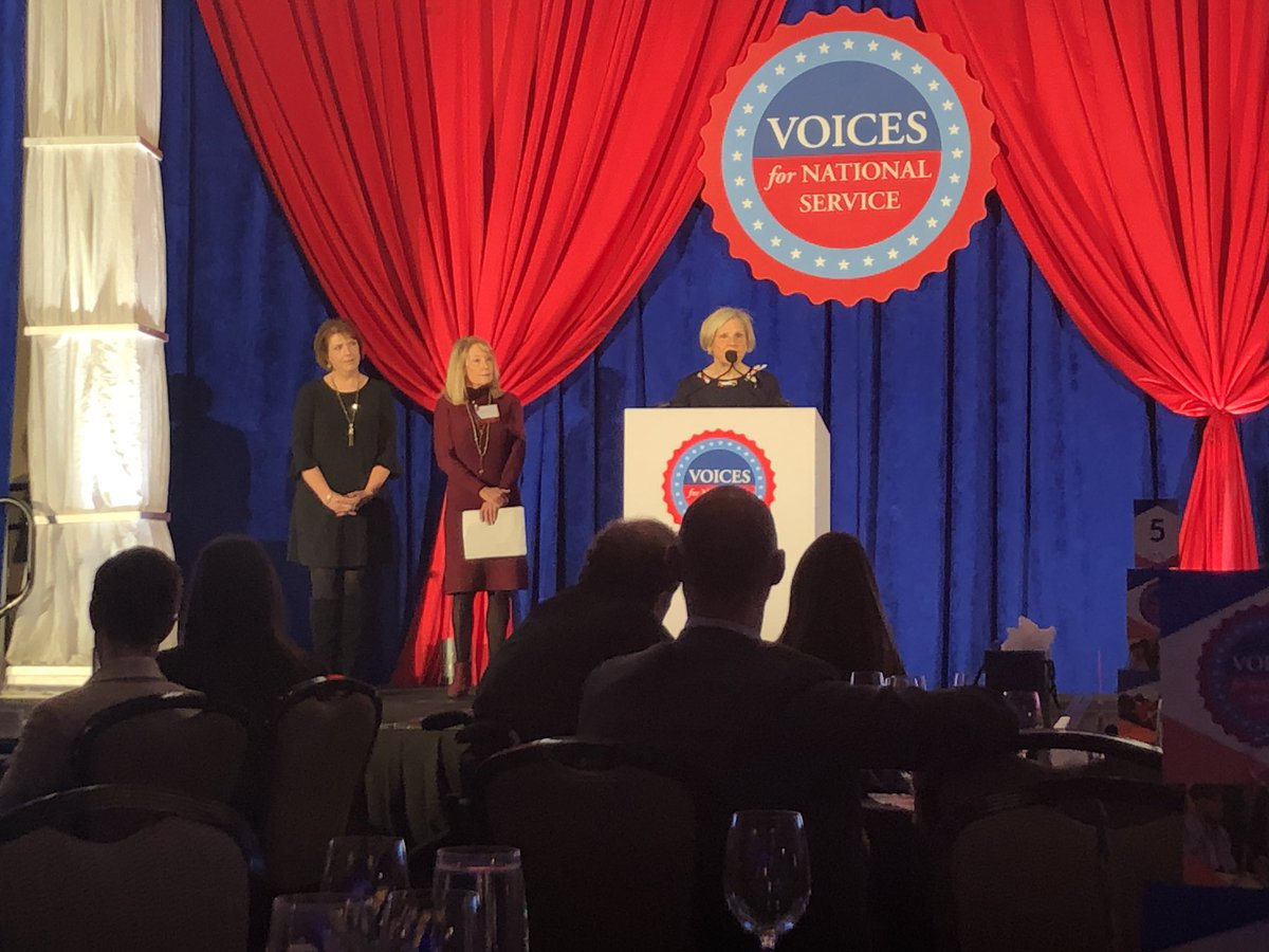 Congratulations to our friend and former @SeniorCorps Director Tess Scannell of #Maine for receiving the @Voices4Service Advocate of the Year Award! #FriendsOfService #States4Service