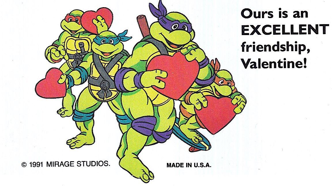 ❤️1991 'Teenage Mutant Ninja Turtles' #ValentinesDay Cards