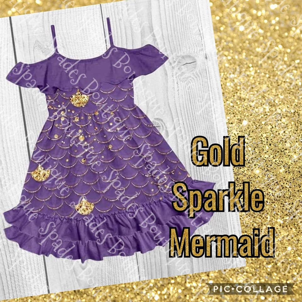 SpadesBoutique Gold Sparkle Mermaid! Order on the main page