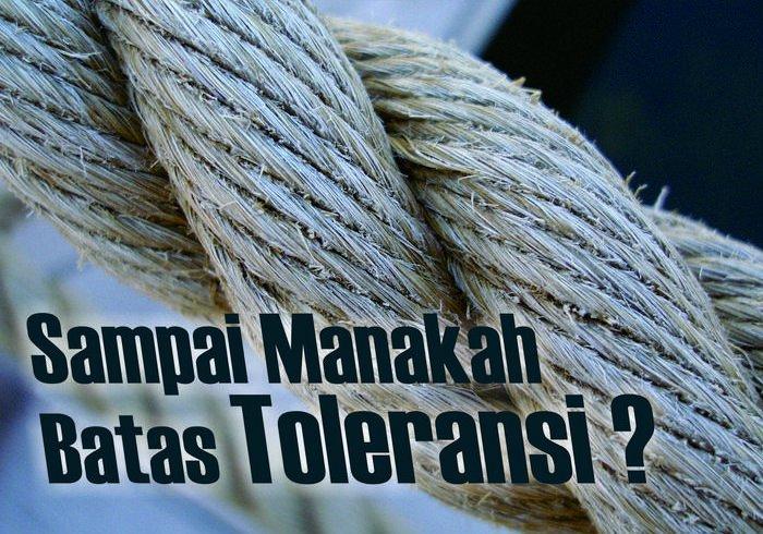 Islam menggariskan batas2 yg harus ditaati agar umat muslim tdk tergelincir dari jalan yg lurus.. sebagaimana agama tidak boleh dijadikan alasan utk bersikap intoleran #toleransi #IslamToleran
