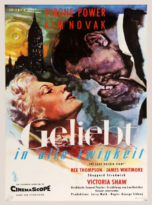 Happy birthday Kim Novak - THE EDDY DUCHIN STORY - 1956 - German release poster