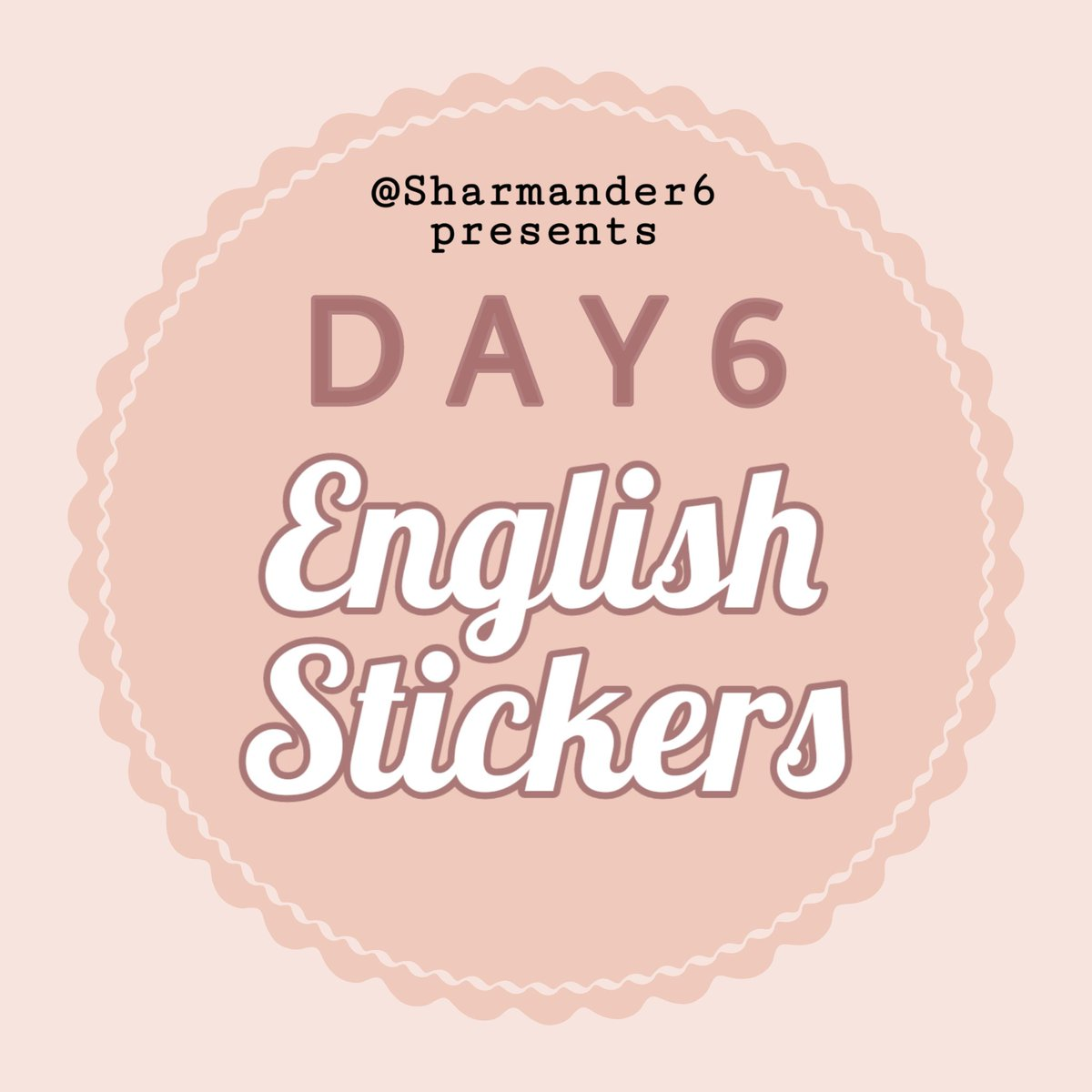 LET ME SAY HELLO! Long time no see dear My Days, Finally #Day6SayingsEnglishStickers is ready for order! (INA and Intl) 🍕  Item Details : Vinyl Doff-Laminated Kiss cut Size A5 sticker sheet  For INA order pls fill in http://tinyurl.com/Day6StickerShar  Questions thru DM pls :) THANK YOU!