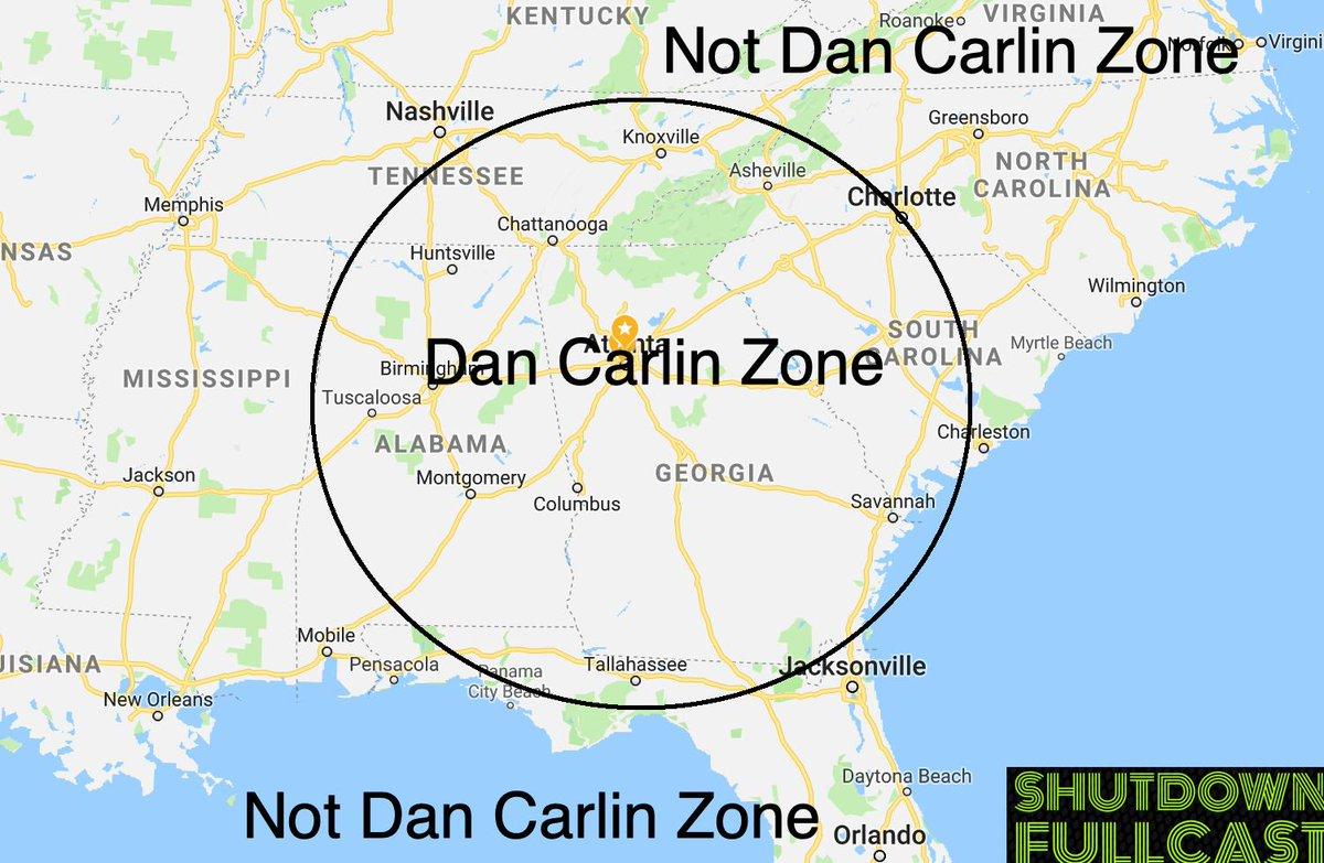 John Wack On Twitter Your Dan Carlin Zone Is The Distance From