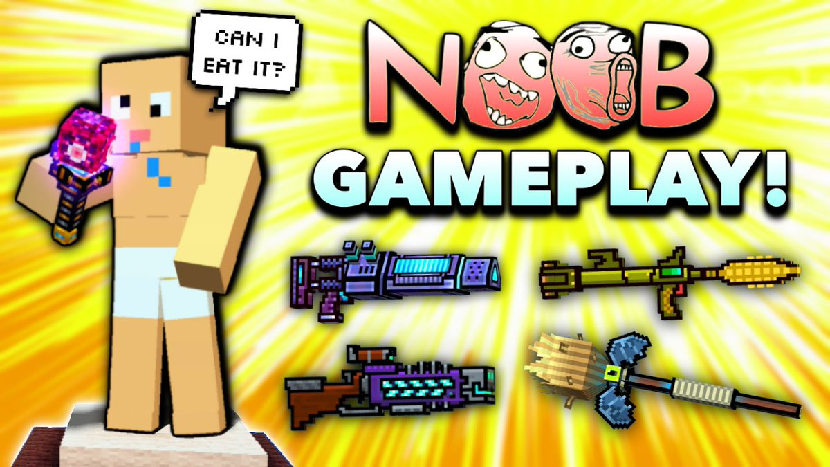 NOOB WEAPON GAMEPLAY 2019 EDITION! https://youtu.be/L77fHq4JiKU  RT or the noob in the thumbnail will eat the Electrosphere and he'll die! Save him! 😱