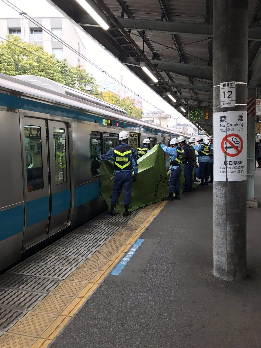 京浜東北線の上中里駅で人身事故の現場画像
