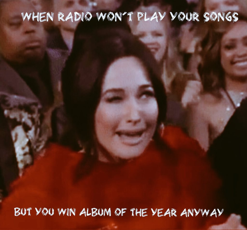 When Radio Won&#39;t Play Your songs, But you win album of the year anyway!! #kaceyMusgraves #GoldenHour <br>http://pic.twitter.com/mSu9tKuhZd