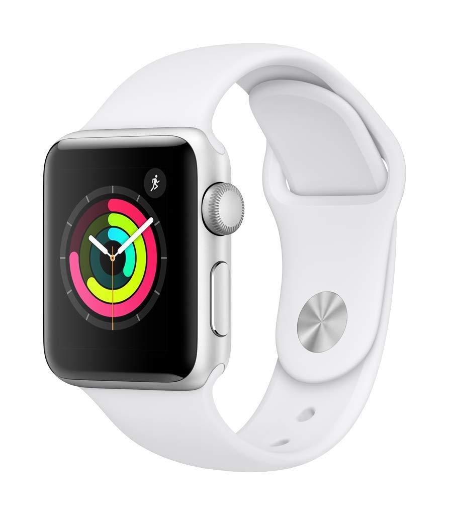 Back in stock!!!  Brand new Series 3 38mm Apple Watch for $199!!!  White;    https:// amzn.to/2URDEl6  &nbsp;  <br>http://pic.twitter.com/146uU30NE9