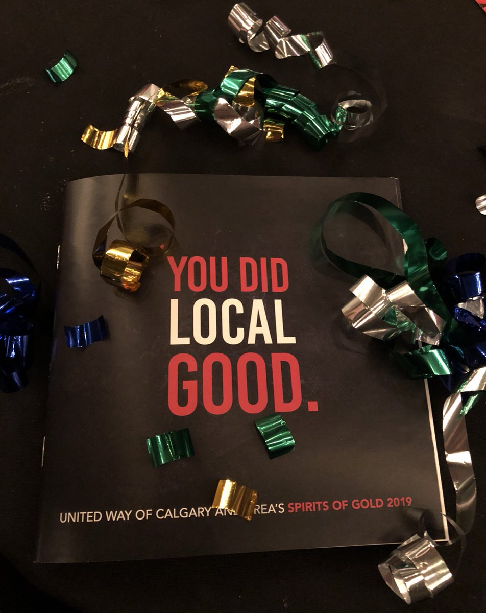 We are honoured to be nominated for the Quantum Leap Award at the @UnitedWayCgy Spirits of Gold evening. We are very proud of our employees and our 2018 campaign! #DoLocalGood #unignorable #yyc