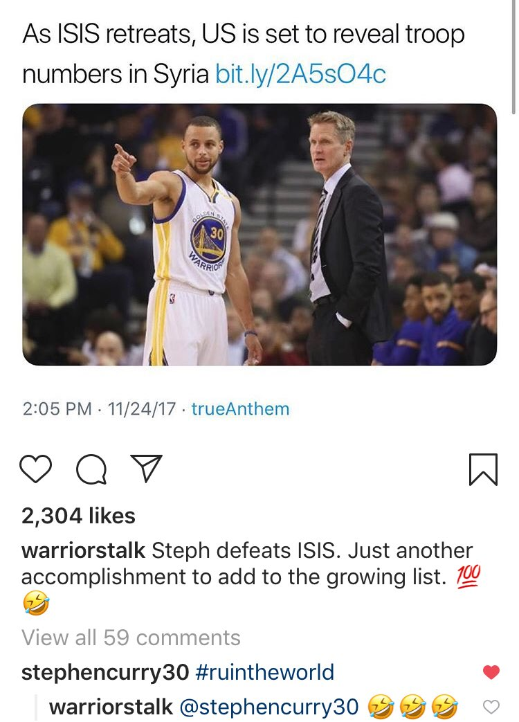 Steph just saw this 😭