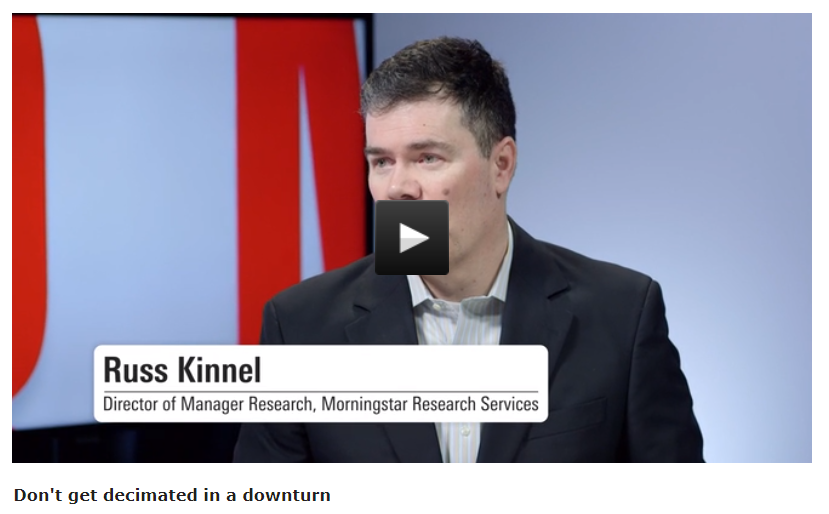 Don't get decimated in a downturn | #Diversification is your best bet to minimise losses during a downturn rather than expecting an active equity fund to turn defensive, says Morningstar's Russ Kinnel | Watch: https://bit.ly/2GBNYdc #ausbiz #investing