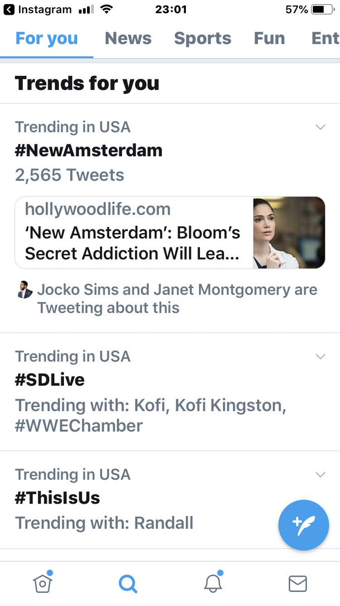And our magnificent series @NBCNewAmsterdam is trending at No. #1 in USA. Congratulations to the entire team. 👍🤓