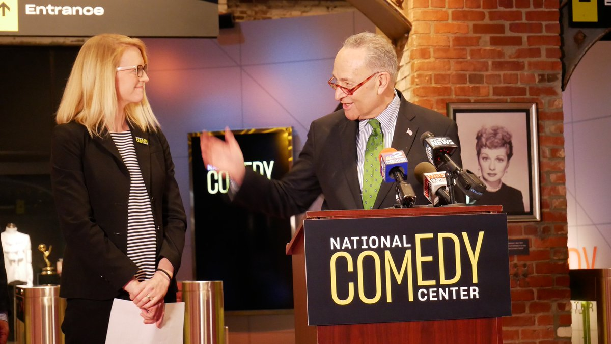 With visitors from all 50 states and 6 countries, @NtlComedyCenter has established itself as a world-class destination. I'm so glad I got to stop by on Friday for some laughs myself before the Senate voted today to name them THE National Comedy Center. The House vote is next!