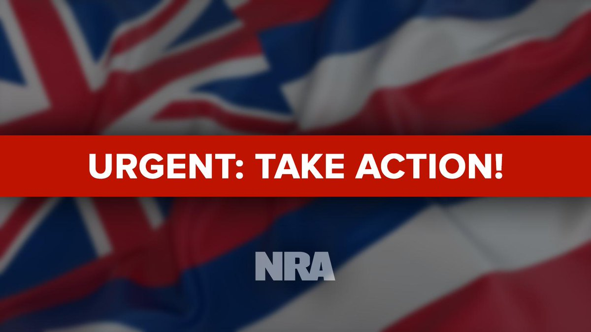 URGENT: Tomorrow, the #Hawaii state House Committee on Public Safety, Veteran and Military Affairs will be hearing several ANTI-GUN bills. Visit http://bit.ly/HIOpposeGunControl … to contact Committee Members today and urge their opposition to HB 720, 1486 and 1543.