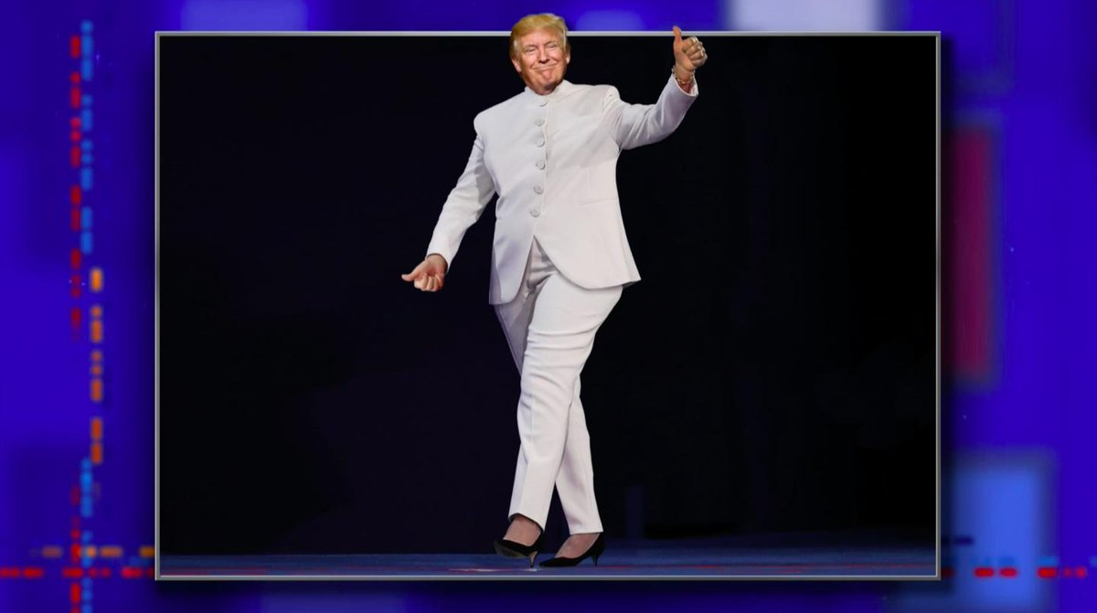 He stole Hillary Clinton's campaign slogan! It's only a matter of time before he steals her look. #LSSC <br>http://pic.twitter.com/6SZ83YJhCX