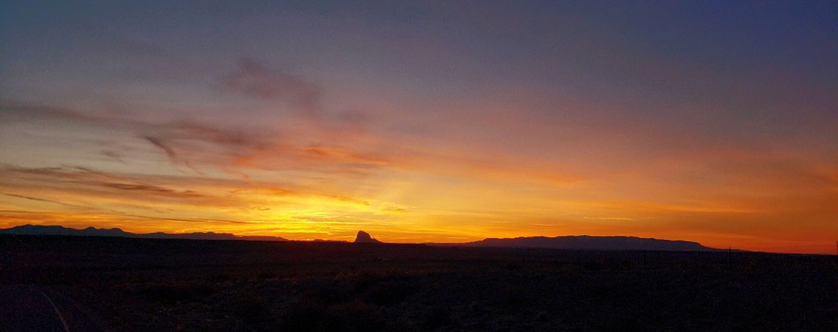 Sunset in Shiprock is always a beauty. 🌅  📸: Nessa Palmer #nmwx #NewMexicoTRUE