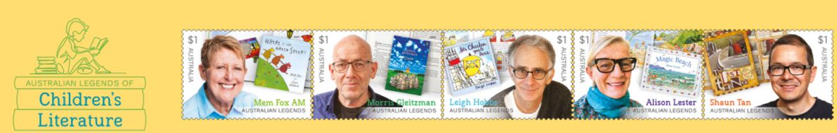 The recipients of @auspost Australian Legends Stamp Honours for 2019, are award-winning authors & picture book illustrators whose works are showcased in the Snr School Library. Each stamp feature a portrait of the author together with a photo of one of their iconic publications.