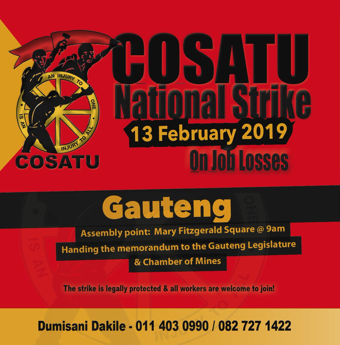 COSATU Today sur Twitter :