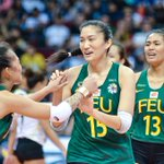Image for the Tweet beginning: #FEU Lady Tams start #UAAPSeason81Volleyball