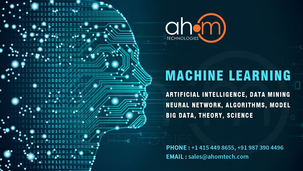 Machine learning is an  application of artificial intelligence (AI). #machinelearning #artificialintelligence #datamining #neuralnetwork #algorithms #bigdata #ahom  Read More at : https://www.ahomtech.com/machine-learning-development-company-india/… Contact Us : +1 415 449 8655, +91 987 390 4496 Email Us : sales@ahomtech.com