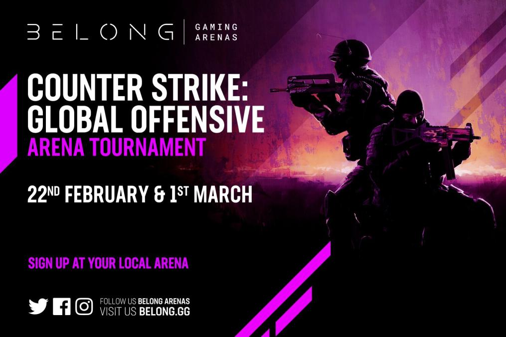 🚨🚨 #CSGO Tournament🚨🚨  ⚔️ Wingman (2v2) 📅 22nd Feb & 1st March ⏰ Starting at 6pm 💵 only £20 per team (£10 each) 💰💰💰 £80 (£40 each) in GAME points  DM us for more info or to sign up, places are limited for this @BelongArenas wide tournament   @GAMEColchester