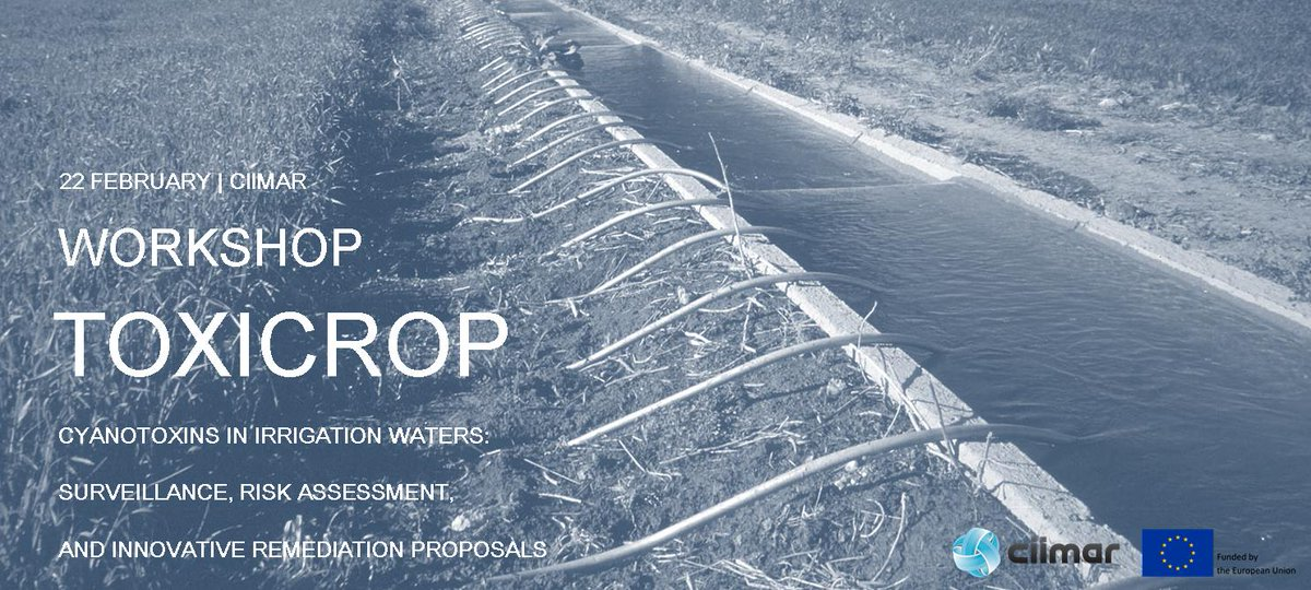 "Workshop ""TOXICROP - Cyanotoxins in Irrigation Waters: Surveillance, Risk Assessment, and Innovative Remediation proposals"", 22 feb, at CIIMAR. The participation is free but registration is mandatory.   More info through the link: https://www2.ciimar.up.pt/events.php?id=93 …  #CIIMARtraining"