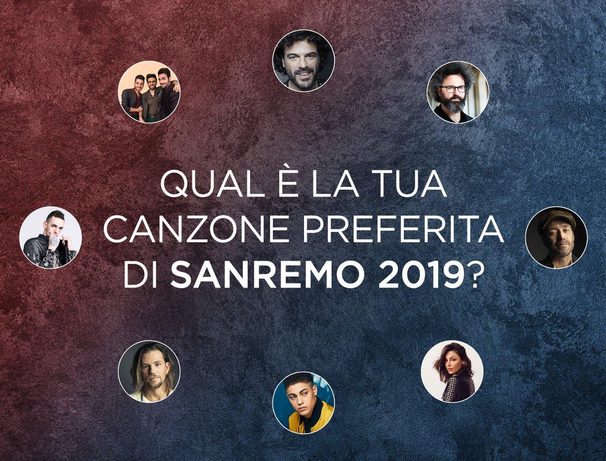 RT con la tua canzone preferita 🙌 #Sanremo2019