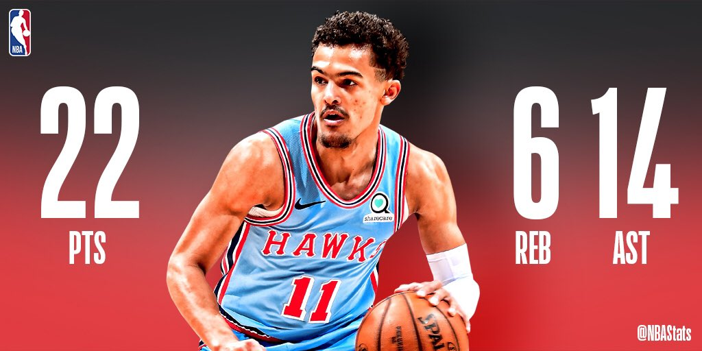 22 PTS, 6 REB & 14 AST in the @ATLHawks home W! #SAPStatLineOfTheNight