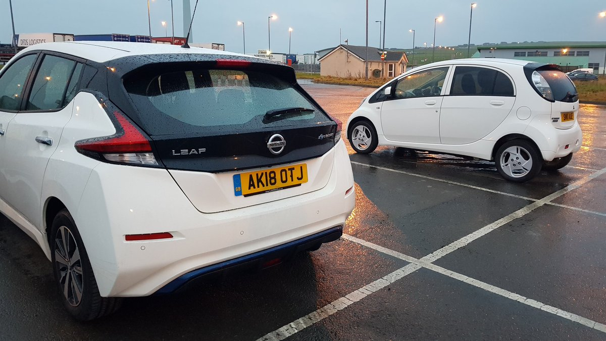Another 2 #EV arrived this morning  in #orkney thanks to @NLFerries .In 2013 there was 7 evs here, now its 250+ and counting 👍😉 @FullyChargedDan @bobbyllew @KateFantom @TimsTravels1 @Carpervert @OLEVgovuk @pluginadventure @HomeEnergyScot @106Euan @BethLilyRace @She_sElectric