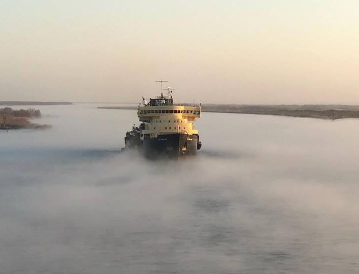 ff283b7eb205 The U.S. Army Corps of Engineers Philadelphia District s medium hopper  dredger McFarland has been activated and deployed to do emergency dredging  in the ...