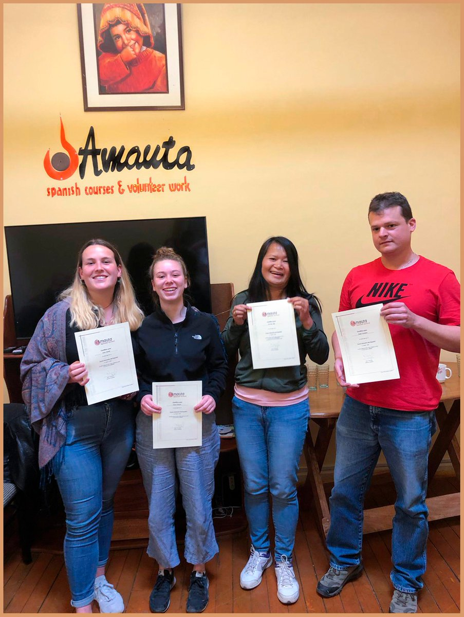 """""""During our two-week stay at AMAUTA Spanish school in Cusco, we got to know a really professional team of teachers and staff. We enjoyed learning #Spanish in such a beautiful country, city, and location."""""""