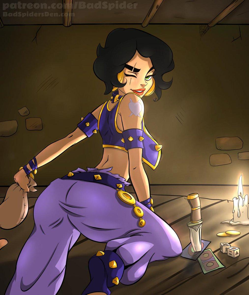 "Akabur iris pinup done. fanart cross of @akabur 's ""princess trainer"" and"