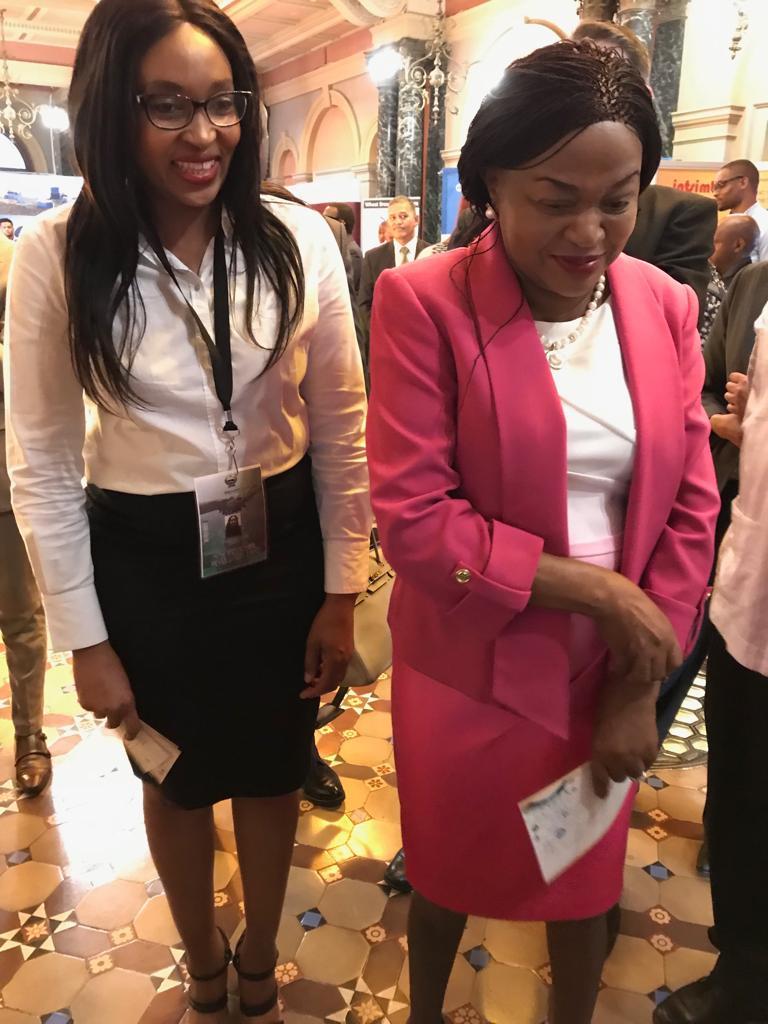 Day 3: #MZANZI4IR The @ParliamentofRSA Speaker Ms Baleka Mbete visited our stand at the 4th Industrial Revolution Expo @dstgovza @DMR_SA @CSIR @NRF_News @SAAO