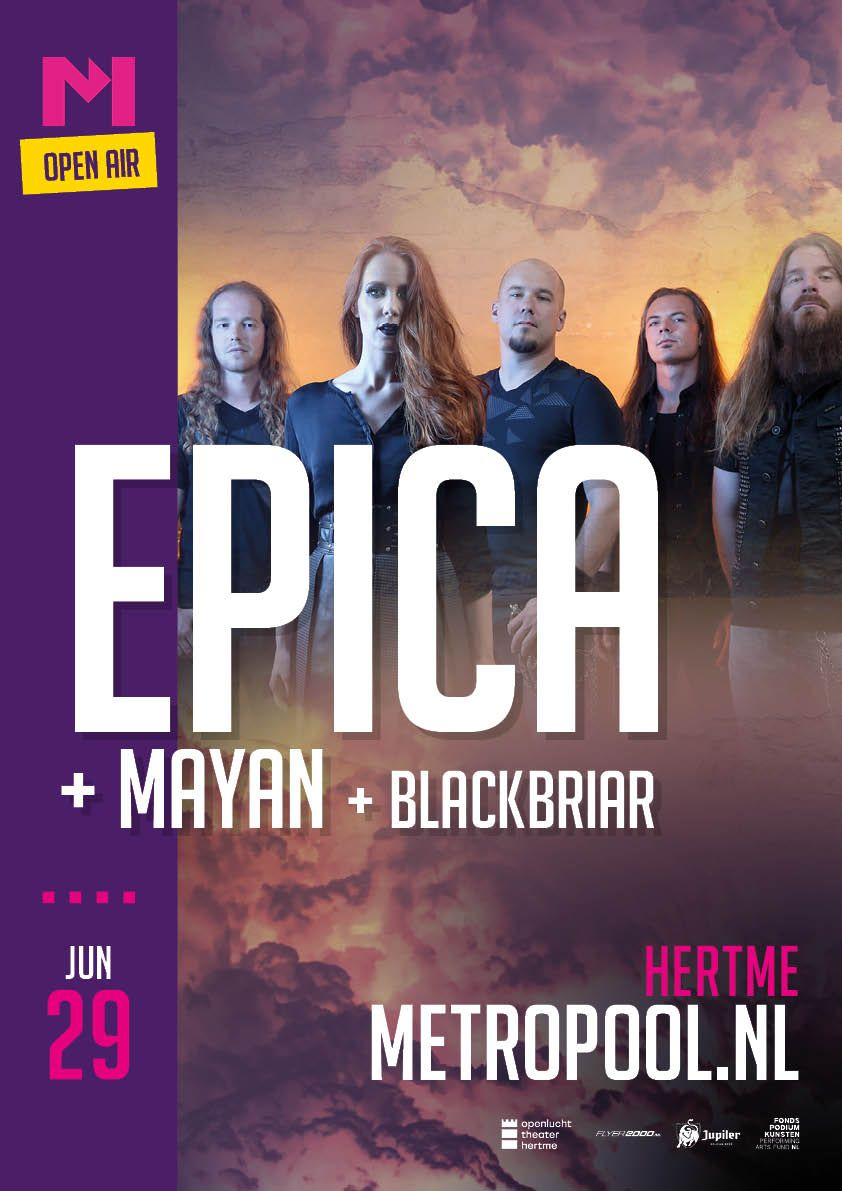 We are excited to welcome @mayanofficial and blackbriar as support acts for our exclusive Dutch summer show on June 29th at the Openluchttheater Hertme. Tickets are available from: buff.ly/2W4e4uN