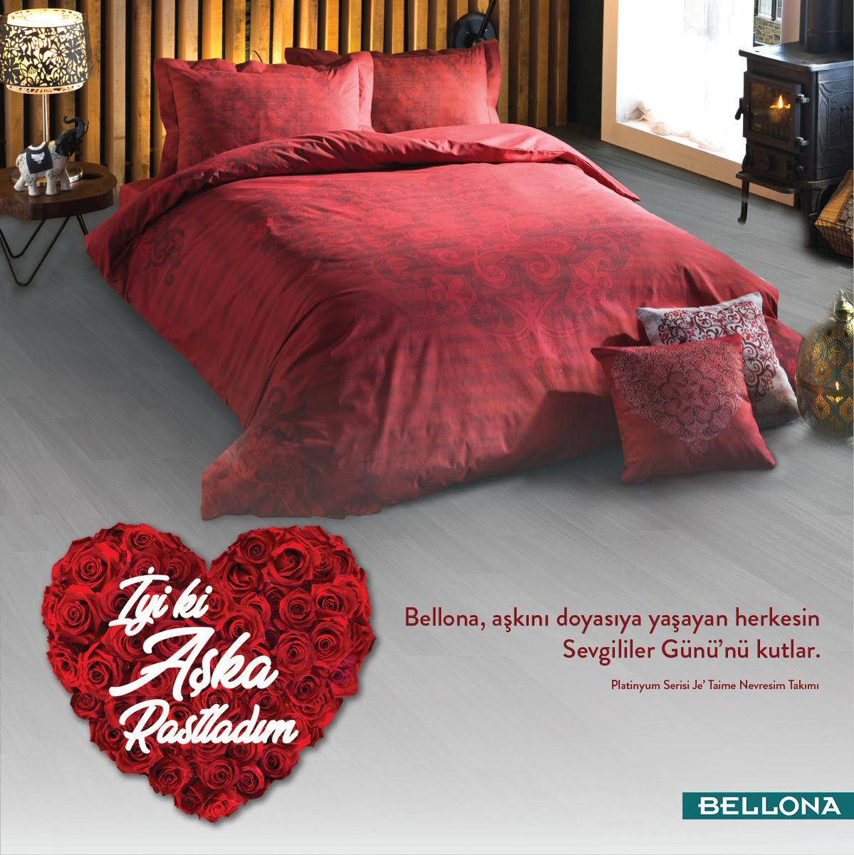 Bellona, aşkını doyasıya yaşayan herkesin Sevgililer Günü'nü kutlar. ❤️ http://bit.ly/BellonaNevresimTakımları…