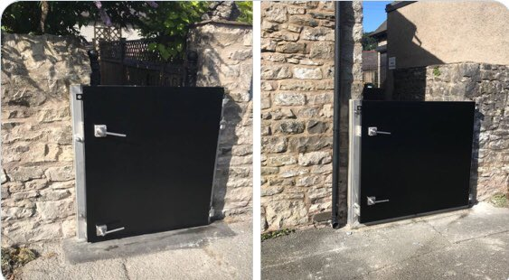 @IBS_EPLtd floodgates, installed for Alliance Flood Solutions, Kendal. These standard gate designs are available in sizes up to 4,000mm wide x 1,600mm high. They consist of stainless steel frames (and hardware) and aluminium gate leafs and can be easily operated by one person. https://t.co/zWFP9hjQ2m