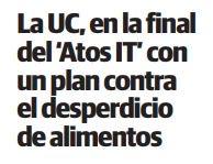La @unican, en la final del 'Atos #ITchallenge' con un plan contra el desperdicio...