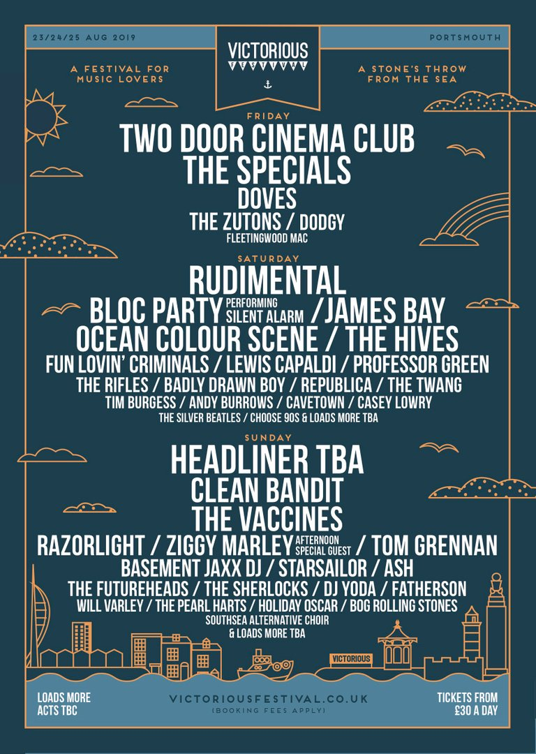 I'll be playing @VictoriousFest on the 24th of August. Tix on sale now. See you there x  https://www.victoriousfestival.co.uk/buy-tickets/