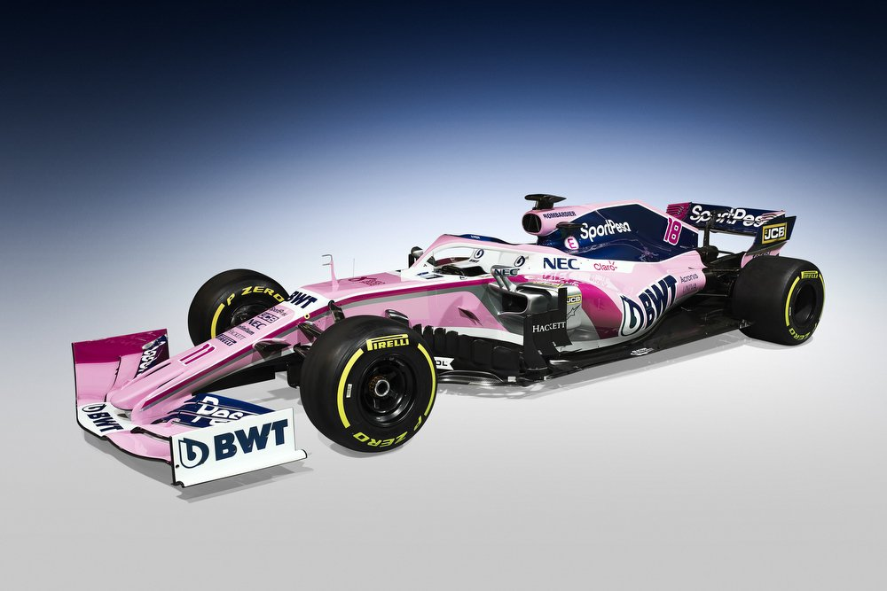 Look at this beauty - our SportPesa Racing Point car!  Welcome @SportPesa - now it's time to #MakeItCount!  Our 2019 look is here! #WeAreReady #NewEra