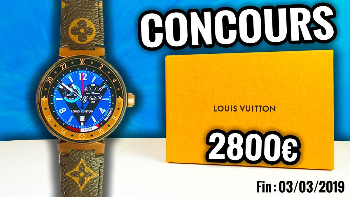 #CONCOURS 🔥 Je vous offre la montre connectée #LouisVuitton ⌚️d'une valeur de 2800€. 🎁  ▶️ Pour participer suivre @jojol67 et RT ce tweet. ▶️Augmente tes chances en participant sur Facebook, Instagram et YouTube. ▶️ Fin du concours : 03/03/2019 Bonne chance !😀