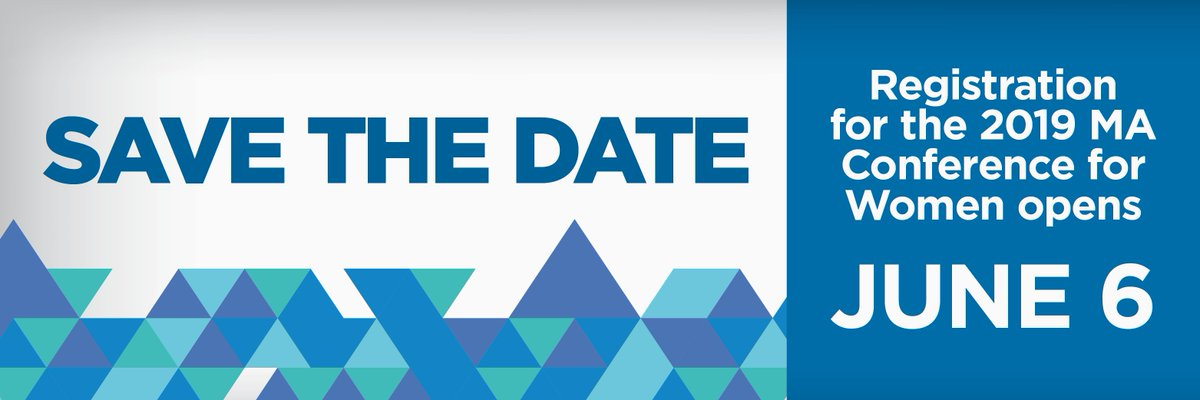 Write this down on your calendar, or type it into your phone, or just make a big banner and hang it on your wall: Registration for #MassWomen 2019 opens June 6! <br>http://pic.twitter.com/Rpq4v5SlY8