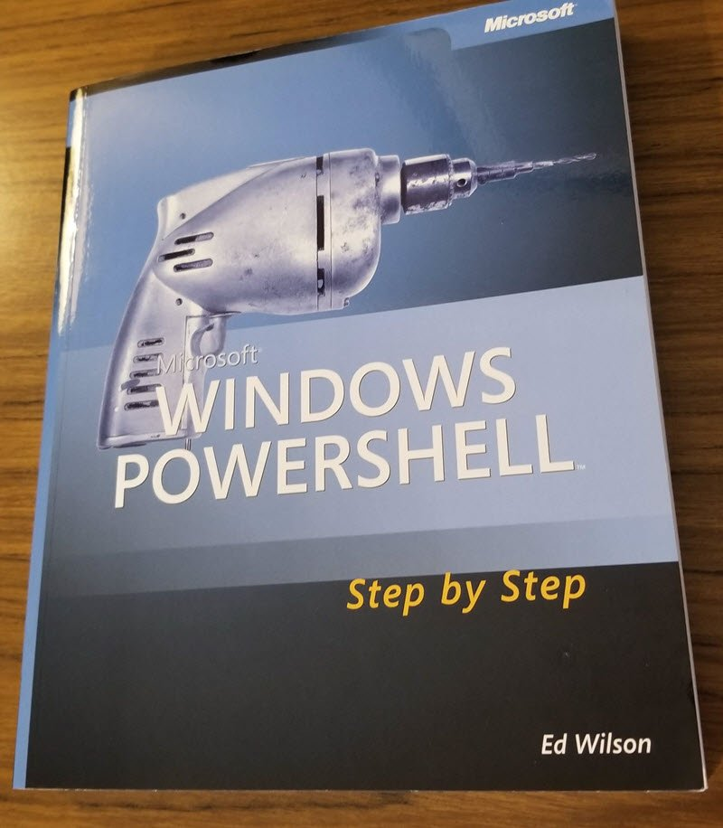 RT: PSHOrg: RT mikefrobbins: What was the first #PowerShell book you purchased? Mine was Ed Wilson's Windows PowerShell Step by Step book on PowerShell version 1.0 that was published in 2007.