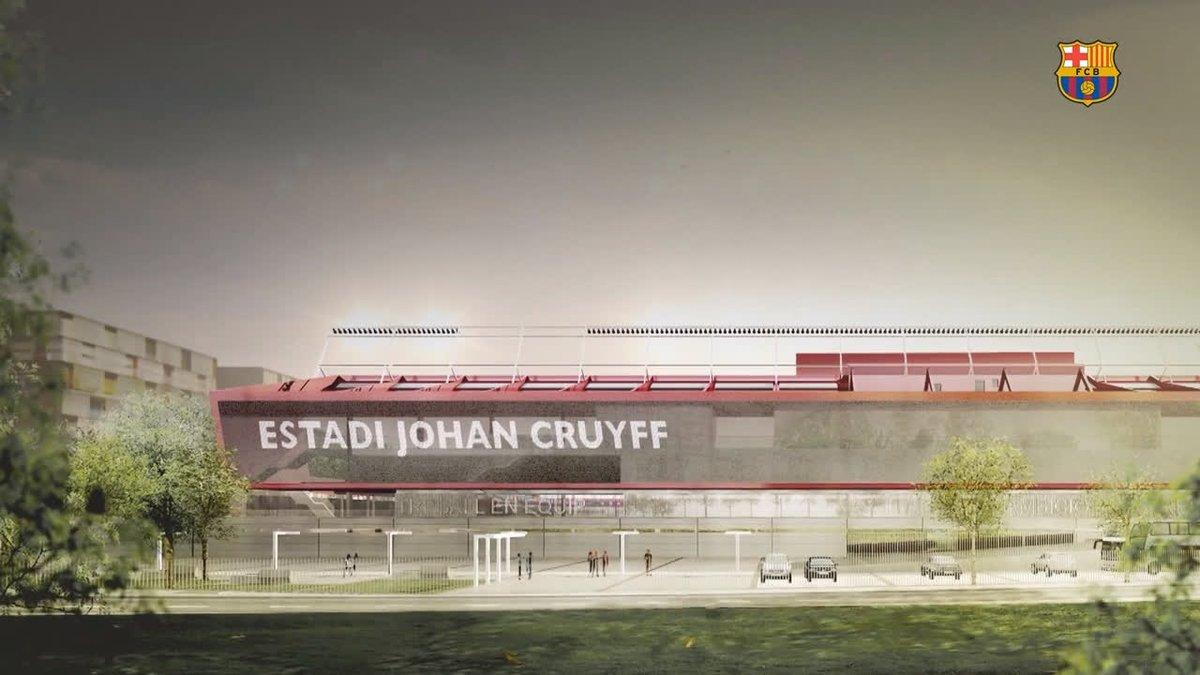 📍 Ciutat Esportiva Joan Gamper 🏟 Estadi Johan Cruyff 😍 🔜 Casa nova 🏡
