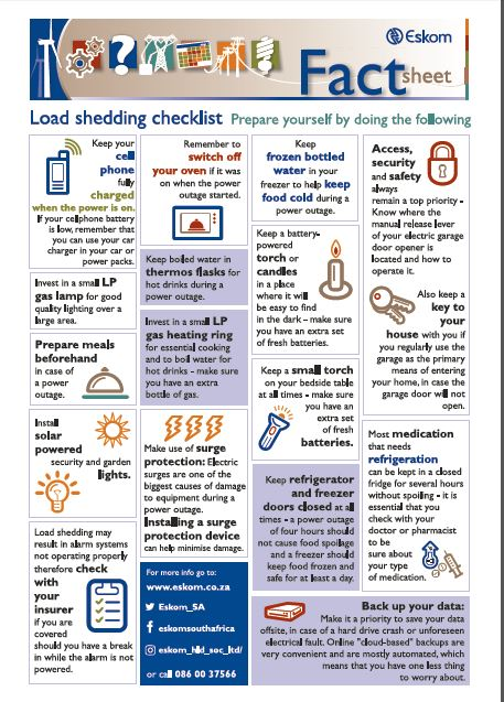 Eskom to implement Stage 2 load shedding from 08:00am on Thursday