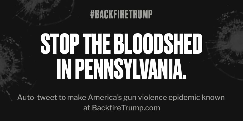 Shooting in #Pennsylvania just took an American life. #POTUS, please do something. #BackfireTrump
